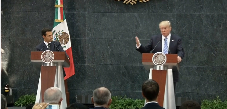'Presidential' Donald Trump meets Mexican President